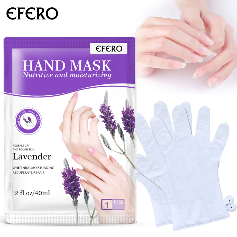 Spa Skin Care: 1Pair EFERO Hand Mask Moisturizing Gloves Whitening Hand