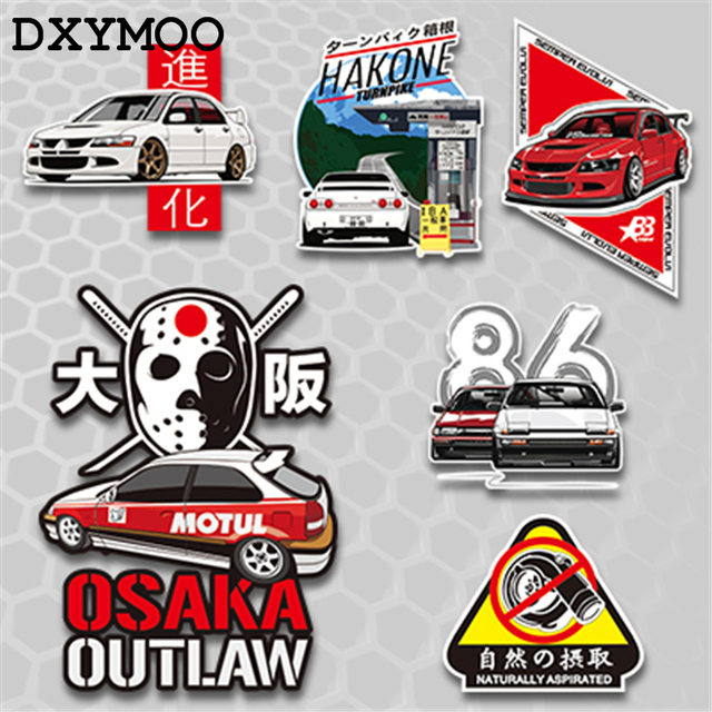 AE86 pegatinas de coche japonés EVO motocicleta Auto todo el cuerpo ventana cola vinilo calcomanía parachoques 3 M para Tokyo OUTLAW HAKONE