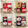 Godier Women 4pair Lot Sock Winter Warm Christmas Gift Stereo Sock Soft Cotton Cute Santa Claus