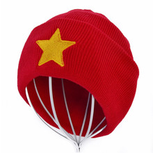 New Hot Men Women Winter Warm Beanies Hat Pentastar Star Steven Universe Red Knitted Caps For