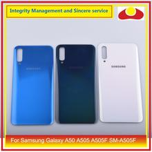 10 ชิ้น/ล็อตสำหรับ Samsung Galaxy A50 A505 A505F SM A505F แบตเตอรี่ประตูด้านหลังกรณีฝาครอบแชสซี SHELL A50 2019