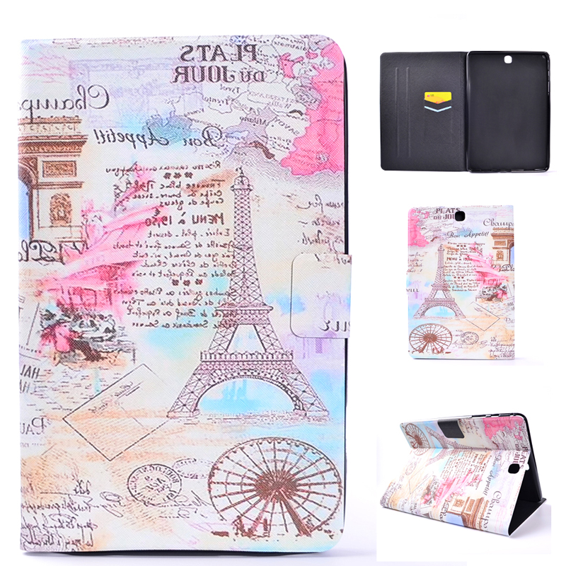 Soft TPU Case For Samsung Galaxy Tab A 9.7 T550 T555 With Card Slot Pocket Taba 9.7 Inch Shell Bag Tower Kids Bird Feather Print