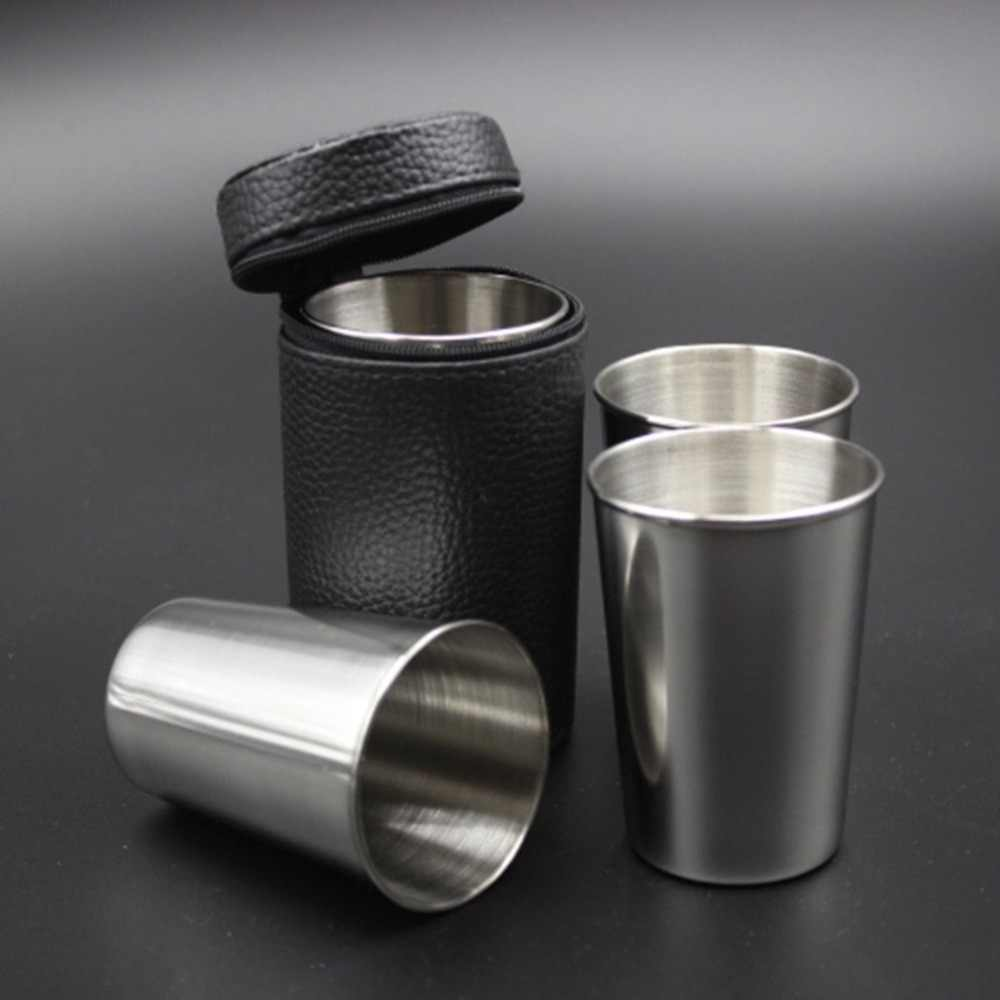 Portable Size Durable Stainless Steel Cover Mug Camping Cups Mug Drinking Coffee Tea Beer for Outdoor Travel