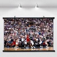 1998 Season Jordan Classic Shooting Basketball Poster Wall Paintings Wall Sticker Banners Hanging Waterproof Cloth Art