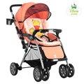 Fashion Cute Cartoon Baby Stroller, Light Bidirectional Pushchair, Folding Children Umbrella Cart, Baby Carriage