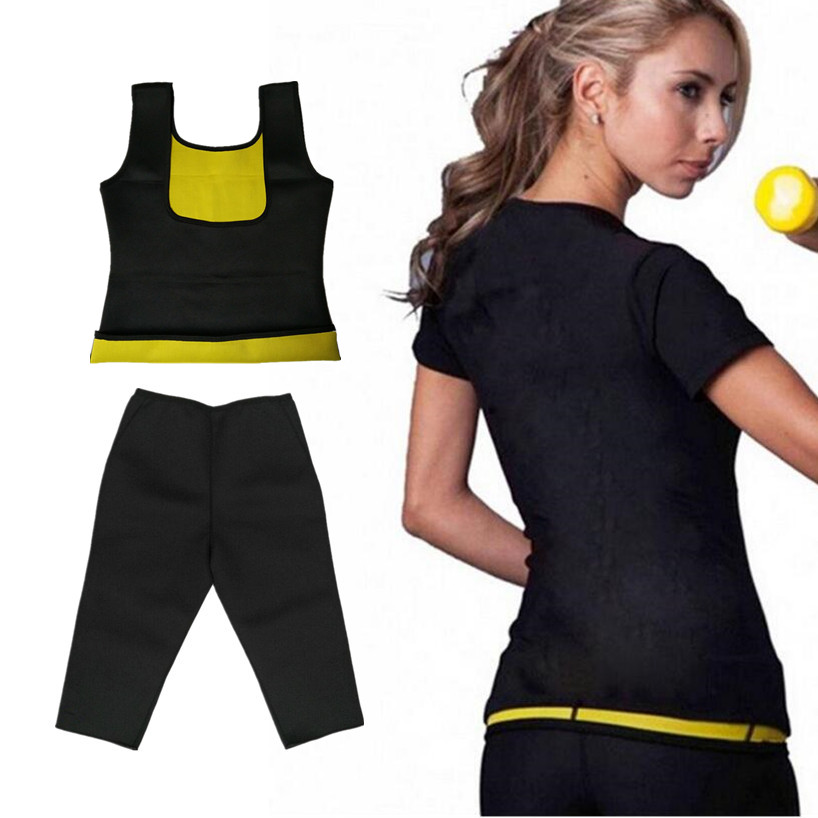 a84292b7fc Women s Waist Trainer Thermal Slim Vest Hot body Shapers Compression Slimming  Shirt Weight Loss Shaper Slimming Pants Shapewear