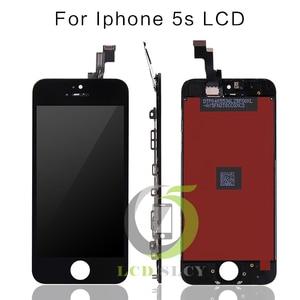 Image 2 - 10 ピース/ロット保証 aaa iphone 5 5s の液晶フルセット組立ブラック/ホワイト色