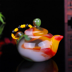Image 3 - שינג יאנג גובי ירקן צבעוני אגת יד מגולף דבר משחק קסם סיר אוסף קישוט מתנה Dropship