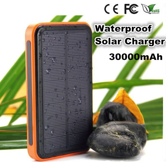 2015 New 30000mah Waterproof solar power bank dual usb universal portable battery charger iphone/samsung - Shenzhen Victory Technology Co. Ltd store