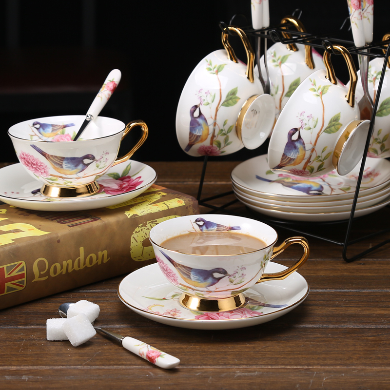 Coffee cups set European Coffee Cup Tea Set Bone china porcelain cup and saucer Teatime Afternoon Tea party Wedding Gifts