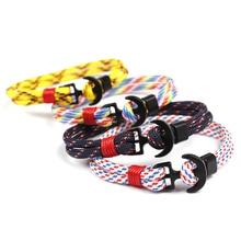 HOMOD 2019 New Design Alloy Anchor Bracelet Handmade Charm Bracelets & Bangles For Men Women Silver Plated Rope Bangle