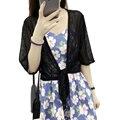 summer women short coat New All-Match Lace Short-Sleeved Cardigan Shawl Coat Short Jackets Plus Size chaquetas mujer