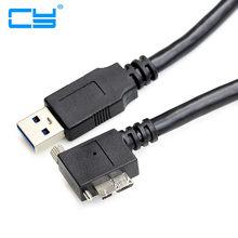 5 m cabo de sincronizacao de dados de carga micro usb 3.0 angular com furos para parafusos fixos para linhas de interface usb3.0