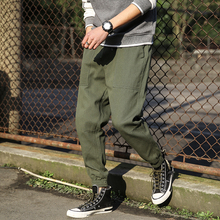 Harlan pants spring men's hip hop trousers jogging pants S-5XL men's solid color large pocket sweatpants men's beamed overalls