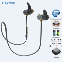 PLEXTONE BX343 Double Battery V4 1 Magnetic Suction Bluetooth Earphone Sport Waterproof Headset Endurance Metal Music