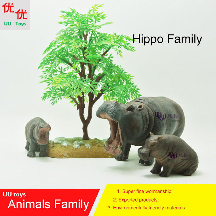1pcs Japan Anima Hippos Figure Lovers Hippo Diy Resin Action Figure Model Toys For Home Decor Toys & Hobbies