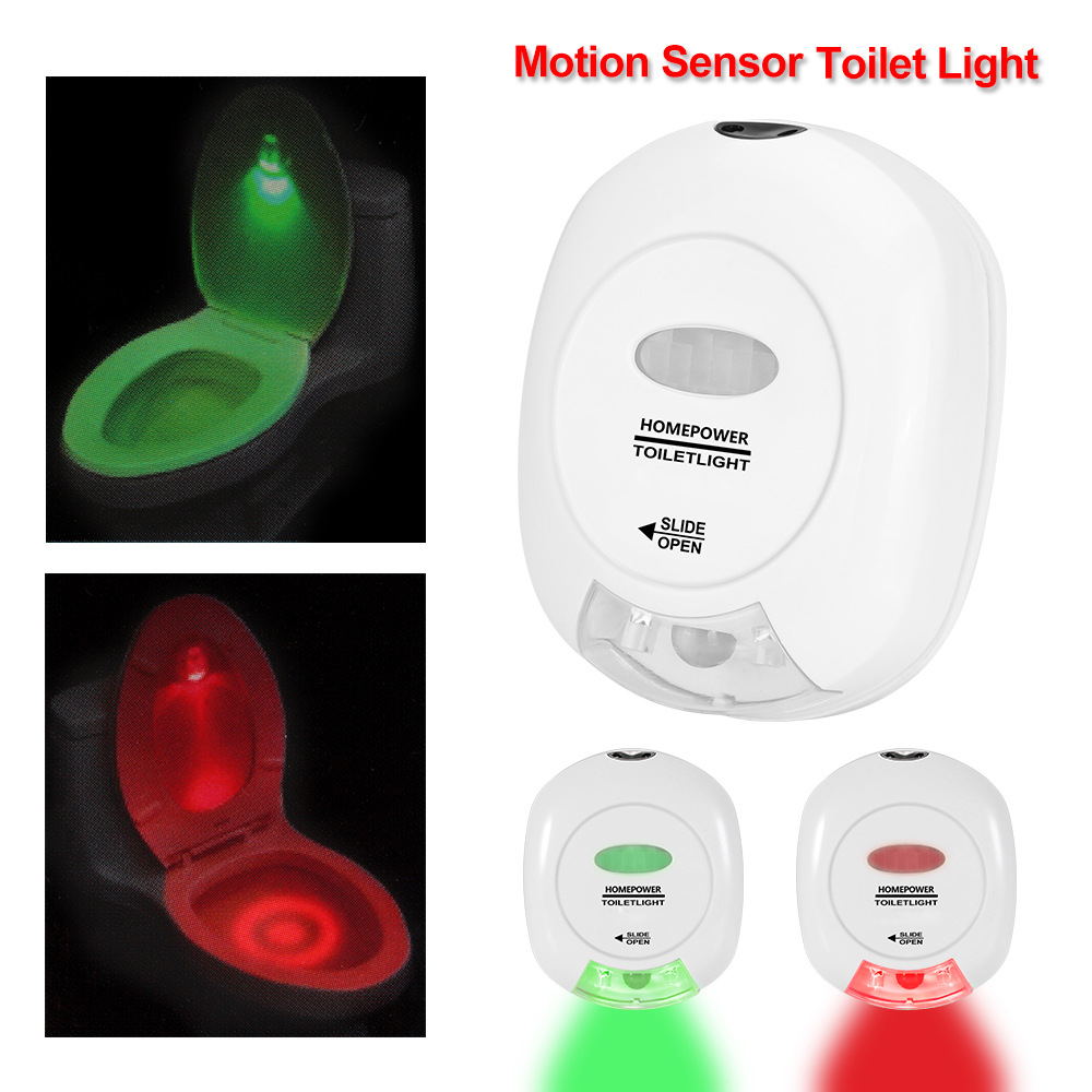 Human Motion Sensor LED Night Light Green Red Toilet Lighting Washroom Bathroom  Hotel Lamp Creative Gifts AA Battery Operated in Night Lights from Lights   Human Motion Sensor LED Night Light Green Red Toilet Lighting  . Red Light In Bathroom Hotel. Home Design Ideas