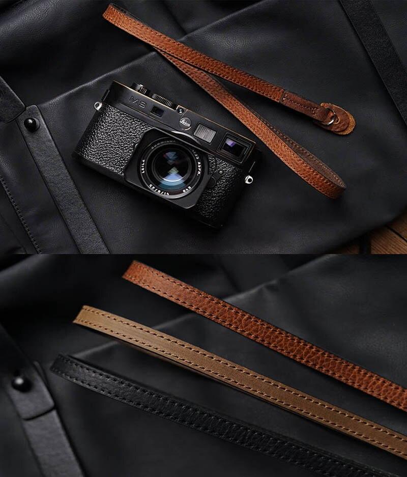 Newest Mr.stone Handmade Genuine Leather Camera Strap Camera Shoulder Sling Belt For Canon Nikon Sony FUJI Fujifilm Leica Pentax