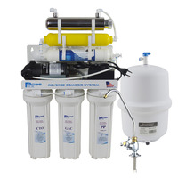 Household 7 Stage Undersink Reverse Osmosis System with 6W UV Sterlizer/220 240V~50/60Hz /Two pin round plug 75GPD