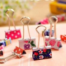 48 Pcs/lot Cute metal binder clips Rilakkuma paper clip Stationery Office accessories School Supplies 2 size