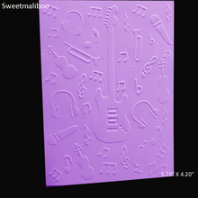 Music Note guitar Embossing folder plastic Scrapbooking stencils paper card making craft envelop album gift box decor 2017 New
