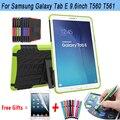 Антидетонационные Чехол Для Samsung Galaxy Tab E 9.6 Case Броня Kickstand Силиконовый Чехол для Samsung Galaxy Tab E Case T560 T561