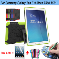 Drop Resistance For Samsung Galaxy Tab E 9 6 Case Cover Stand Holder Protect Shell For