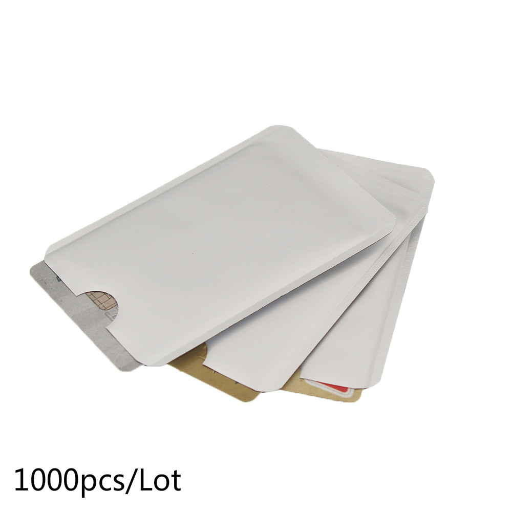 1000pcs/lot Anti Scan RFID Blocking Sleeve for Credit Card Secure Identity ATM Debit Contactless IC ID Card Protector Blocker
