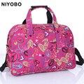 Nueva impresión de la llegada bolsas de viaje hombres/mujeres viajan bolsa de lona impermeable oxford viaje totes bolsas PT974