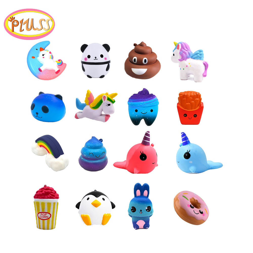 Jumbo Squishy Kawaii Panda Poo Cake Unicorn Squeeze Stress Relief Toys Cream Scented Squishy Slow Rising Cute Gift Toys For Kids