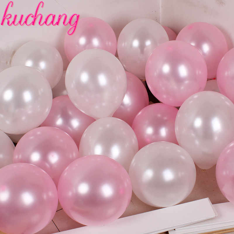 "20 50 pcs/lot 10"" 1.5g mix Colorful Pearl Gold White Latex Balloon Celebration Wedding Decorations Happy Birthday Party Supplies"