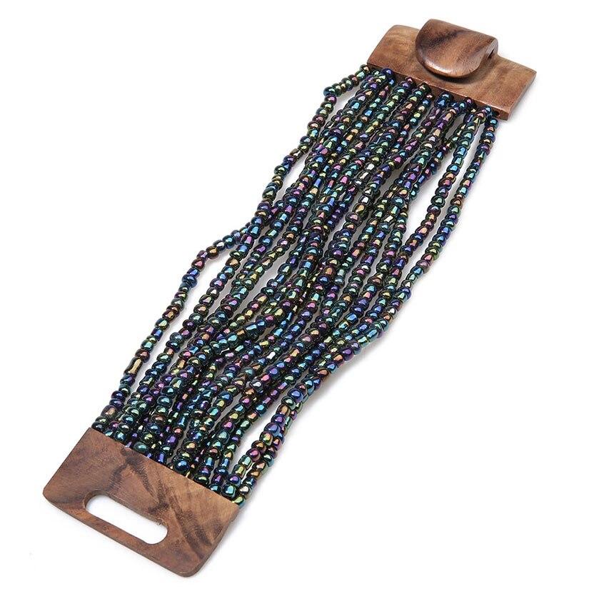 Shinus Classic Women Wrist Bracelets Seed Beads Handmade Cuff Bangles Jewelry Fashion Bijoux Femme Wooden Clasp Gift Pulseria все цены