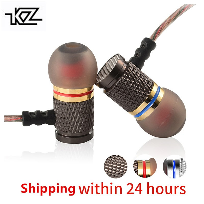 KZ ED Special Edition Gold Plated Housing Earphone with Microphone 3.5mm HiFi In Ear Monitor Bass Stereo Earbuds free shipping