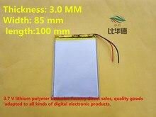 Grátis de Iões Frete Lítio Polímero Bateria 3.7 V 3085100 CE Fcc Rohs Msds Certificação Qualidade