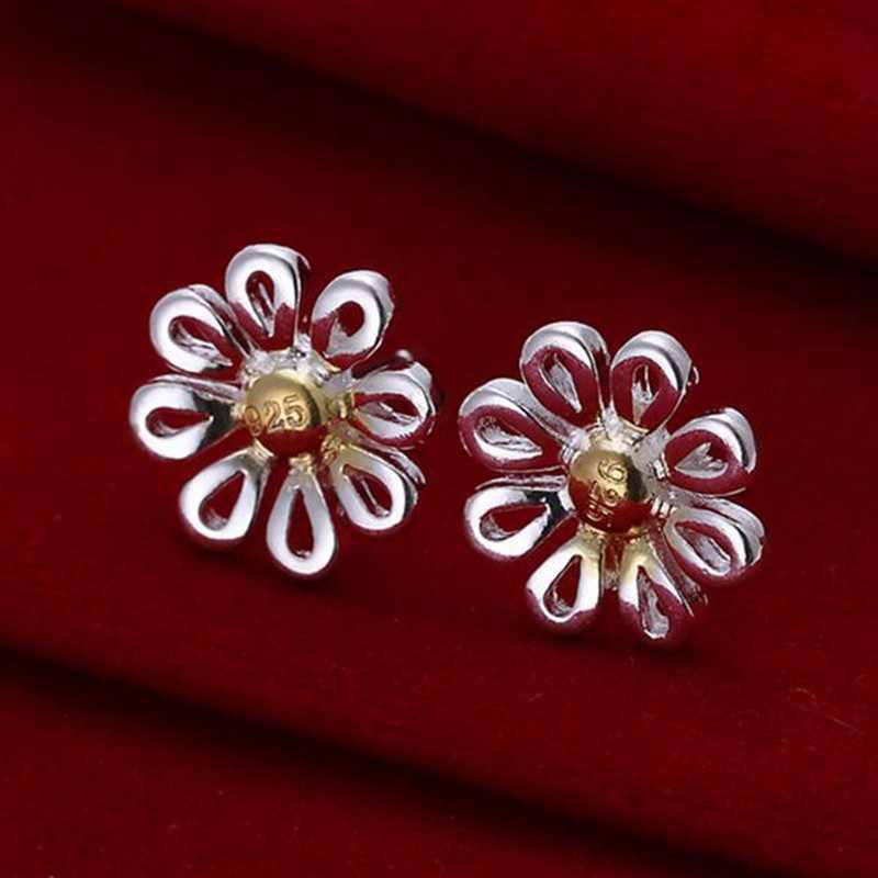 Trang sức thời trang Bông Cho Phụ Nữ, Mạ bạc Hoa Tai Hoa Tai Hoa Cúc E014/GTNOWYPQ ZOUTXDFR
