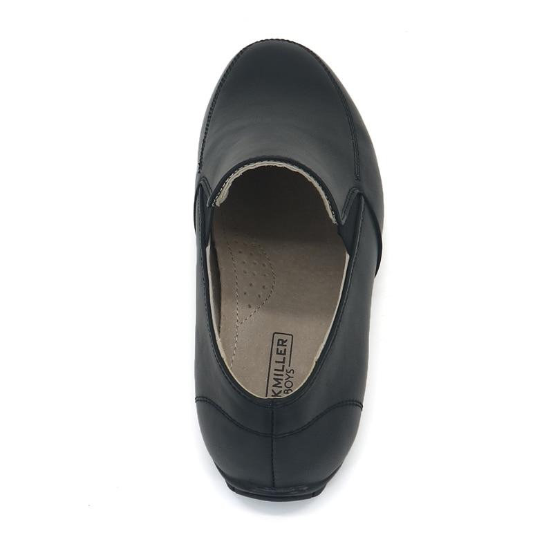 Jackmillerboys Kinderschoenen Jongens Schoenen Zwart Platte slip op - Kinderschoenen - Foto 6
