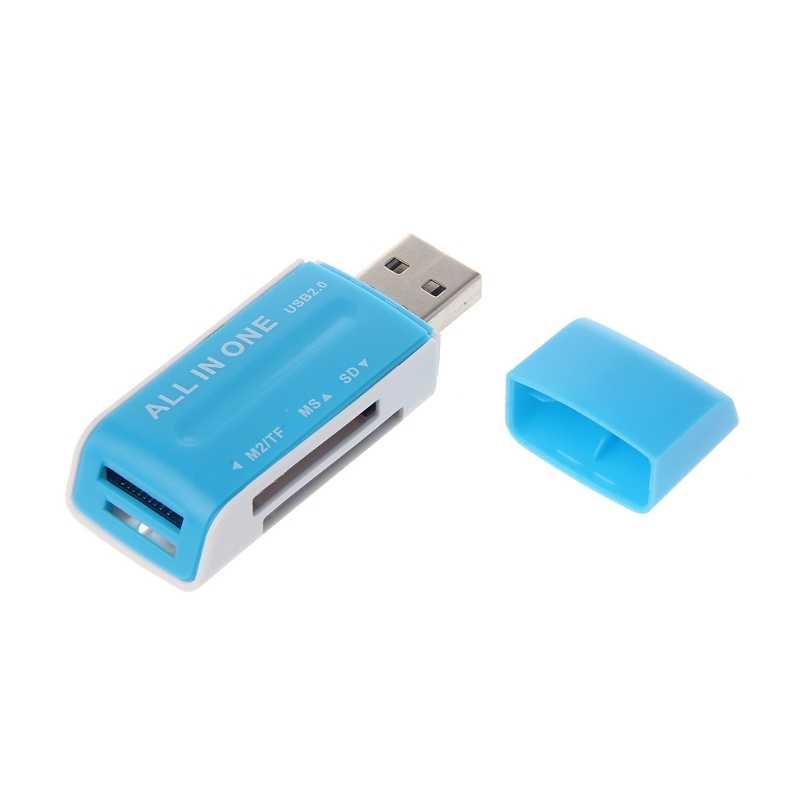 الكل في واحد USB 2.0 ذاكرة متعددة محوّل قارئ البطاقات ل SD/SDHC MMC MS M2 TF