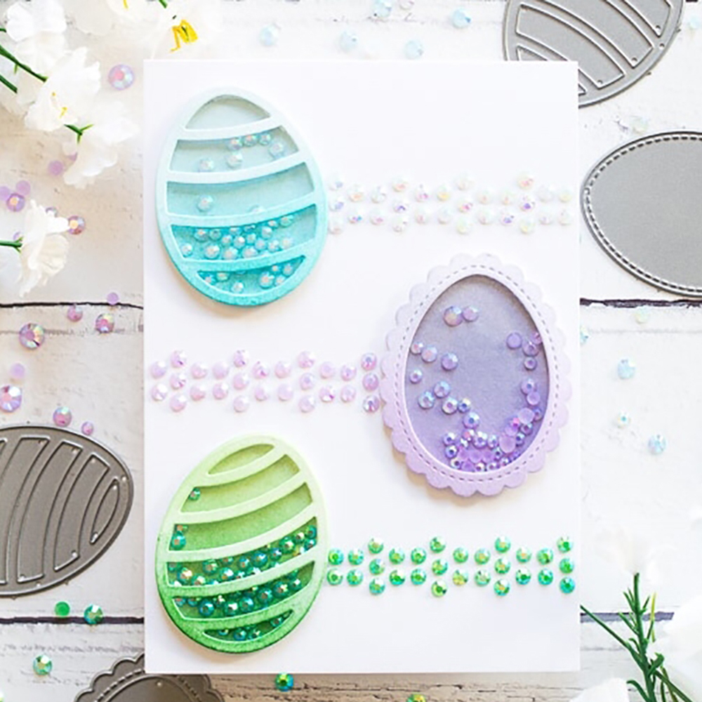 Four Easter Eggs Dies Scrapbooking New Arrival Metal Cutting Dies New 2019 Alinacrafts Craft Die Cut Card Making For 2019 Home & Garden