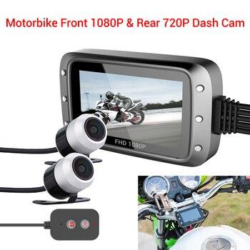 "Cámara impermeable WONVON MT20, cámara de salpicadero GPS para motocicleta 1080P Full HD Dual DVR 3 ""IPS Moto Electronics, caja negra de visión nocturna"