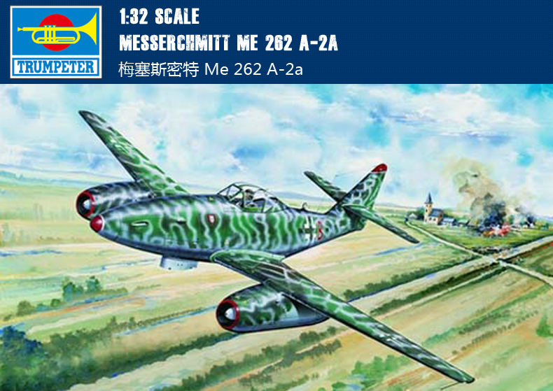 Trumpeter 02236 1/32 Model Kit Messerchmitt Me 262 A-2aTrumpeter 02236 1/32 Model Kit Messerchmitt Me 262 A-2a