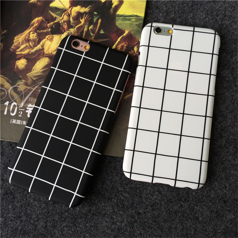 Fashional retro styl černé a bílé mřížky pro iphone 7 pouzdra - Příslušenství a náhradní díly pro mobilní telefony