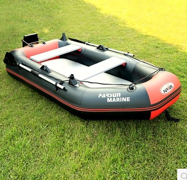 IHOME Fishing Inflatable Boat Rubber Boat Wear-resistant Laminated Ship Thick Plywood 2-4 Person With Motor Engine