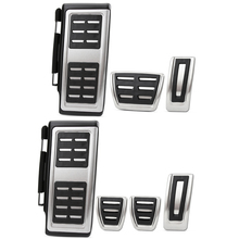 Car styling Sport Fuel Brake Dead Pedal Cover Set DSG For Seat Leon 5F MK3 For Skoda Octavia A7 For VW golf 7 Auto Accessories cheap Pedals Non-slip VCiiC 0inch ISO9001 Stainless steel + rubber + ABS Plastic 2015 450g G7JTB005 Volkswagen For Volkswagen VW golf 7 MK7