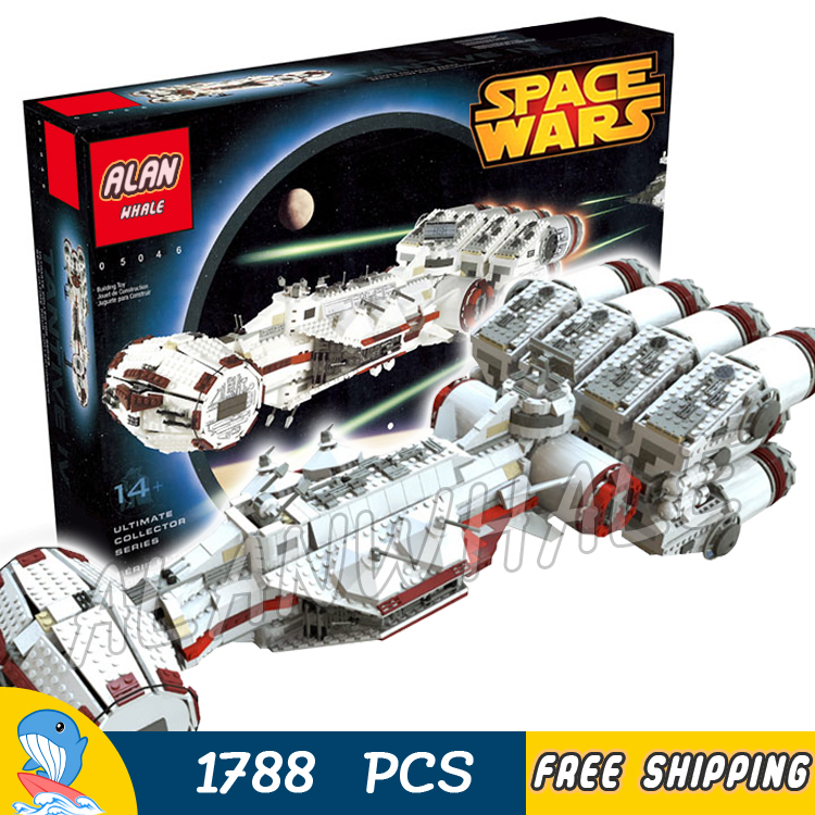 1788pcs Space Wars Ultimate Collector Tantive IV Rebel Blockade Runner 05046 Model Building Blocks Toy Game Compatible With Lego 2017 new 05046 1788pcs star tantive iv re blockade bel runner model building blocks brick toy gift 10019 funny toy war