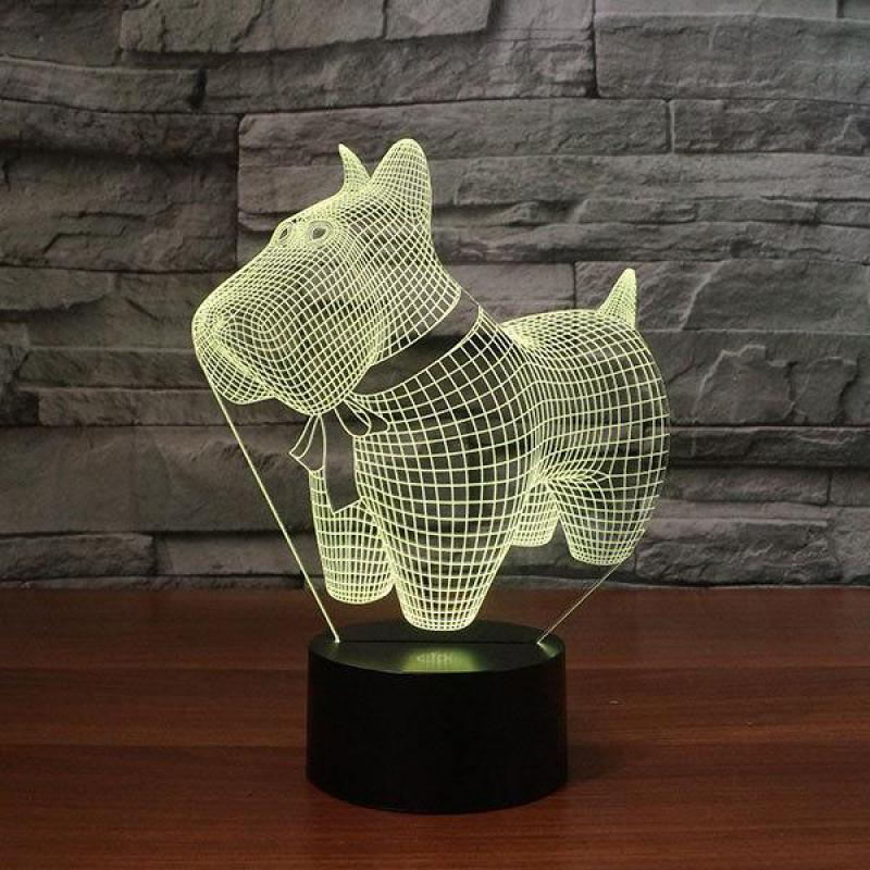 Lights & Lighting Lower Price with Explosion Puppy 3d Creative Night Led Desk Lamp Gift Creative Custom Bedside Table Lamp For Bedroom Lighting Led Table Lamps