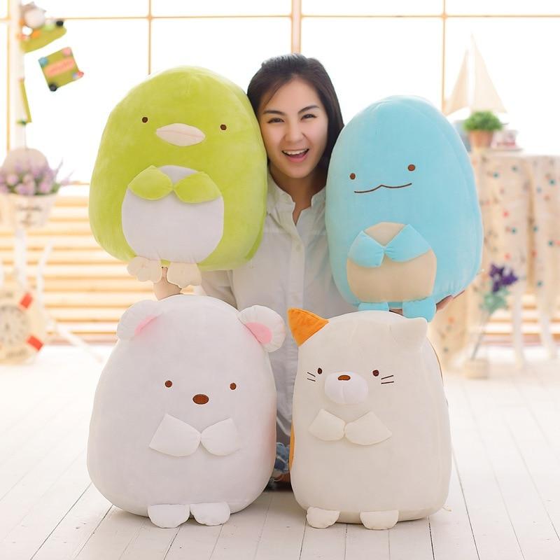 ФОТО Cute 40cm Good Quality Japanese Animation Sumikko Doll San-x Corner Bio 4 Style Lovely Cartoon Plush Toys Soft Pillow Kids Gifts