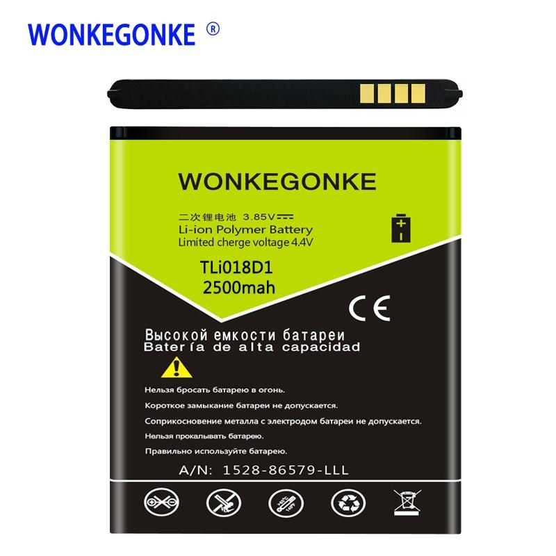 WONKEGONKE TLi018D1 Battery for Alcatel one touch Pop D5 Dual 5038x OT5038X Pop 3 5015D OT 5016 5051A Batteries BateriaWONKEGONKE TLi018D1 Battery for Alcatel one touch Pop D5 Dual 5038x OT5038X Pop 3 5015D OT 5016 5051A Batteries Bateria
