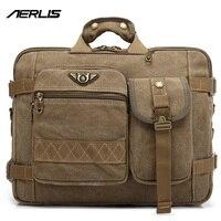AERLIS Fashion Men Canvas Messenger Bag Handbags Briefcase Shoulder Bag Travel Business Laptop Crossbody Bag Backpack