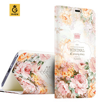 Luxury PU Leather 3D Relief Printing Stereo Feeling Smart Flip Cover Case For Xiaomi Mi 4