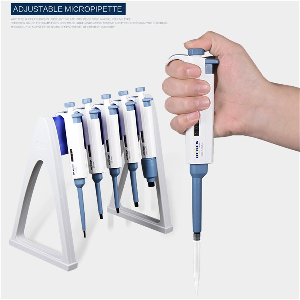 0.1/0.2/0.5/2/2.5/5/10/20/50/100/200/1000-5000ul 1-10ml Lab Single Channel Manual Adjustable Micropipette Toppette Continuous